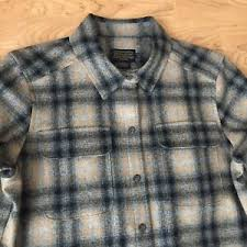Pendleton Shirt Size Chart Details About Womens Pendleton Board Shirt Nwt Red Grey Ombre Shadow Plaid Wool Petite Medium