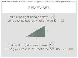 Tangent The Unit Circle Remember Find X In The Right Triangle Above