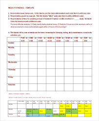Weekly Planner Template Word Weekly Schedule Template 10 Free Word Excel Pdf Documents
