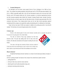 Dominos Pizza Draft A Case Study On Dominos Pizza For