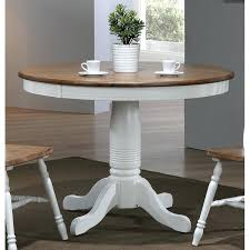 white round kitchen table modern two tone brown and white round dining table furniture ana