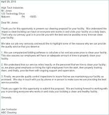 Bid Proposal Cover Letter Bid Proposal Letter Fascinating Cleaning ...
