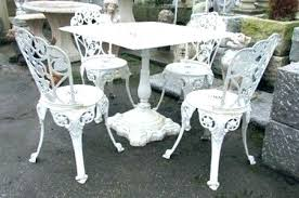 white iron garden furniture. Cast Iron Outdoor Furniture White Patio Garden Table For Sale R