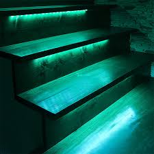 Led strip deck lights Undercounter Outdoor Steps And Railing Led Lighting Kit Weatherproof Multistrip Remote Activated Rgb Color Changing Kit Super Bright Leds Outdoor Steps And Railing Led Lighting Kit Weatherproof Multi