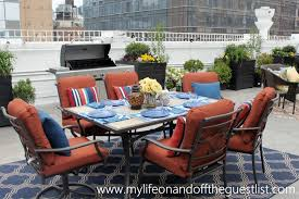 outdoor space with patio furniture
