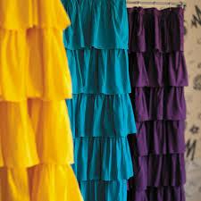 labels kids shower curtains purple ruffle r53 shower