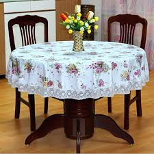fancy plastic table covers new past style round table cloth waterproof flower printed plastic table cover