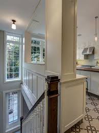 traditional open kitchen designs. The Stairway To A Lower-level Family Room Backs Up Traditional Kitchen In Open Designs I