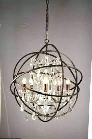 good orb crystal chandelier or restoration hardware gold halo chandeli
