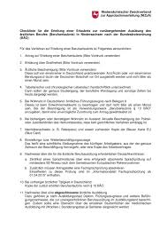 Pg In Germany Checklist Of Required Documents For Berufserlaubnis