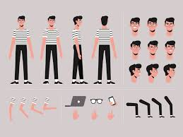 Cut Out Character Template Cartoon Boy Character Template By Jonathan Larenas On Dribbble