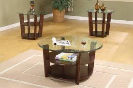 Three Piece Living Room Table Set Round Coffee And End Table Sets 3 Piece Coffee Table Set Wooden