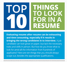 What Do Jobs Look For Top 10 Things To Look For In A Resume Infographic