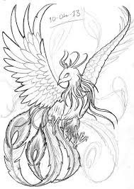 realistic phoenix bird drawings google search