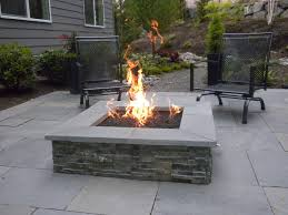 Square Stone Fire Pit Patio Contemporary With Dimensional Stone