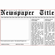 Free Newspaper Article Template Shooters Journal