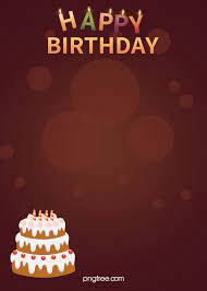 happy birthday cake candle poster