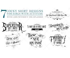 Typography Design Template Typography T Shirt Design Templates For Girls Shirt Title