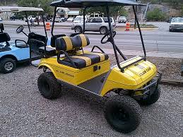 black and yellow club car 2001 refurbished in