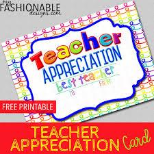 My Fashionable Designs Free Printable Teacher Appreciation Card