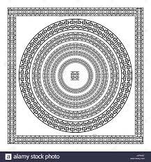 antique frame border. Greek Traditional Meander Border Set. Vector Antique Frame Pack. Decoration Element Patterns In Black And White Colors. Ethnic Collections. Ill