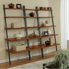 Paige Contemporary Narrow Leaning Bookcase; Paige Narrow Leaning Bookcase +  2 Bookcases