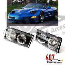 C5 Corvette Projector Lights 97 04 Corvette C5 Black Halo Projector Headlights Front Left