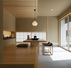 Calm Fresh Dining Room Area Design with Contemporary Dining Table and  Modern Stool in Japanese Style