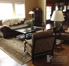Living Room Setting Kalaty Shah Jahan Oriental Rug In Living Room Setting Earth Tones