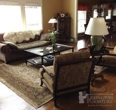 Printed Chairs Living Room Kalaty Shah Jahan Oriental Rug In Living Room Setting Earth Tones