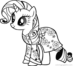 Small Picture My Little Pony Coloring Pages Rarity Coloring Pages