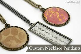 supplies needed to make your own custom necklace pendants supply2