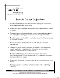 Resume Template With Objective Objective Resume Examples Samples Entry Level Sample Template