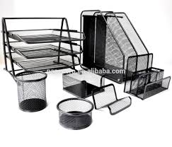 metal office desk organizer wire mesh tray set 7 pieces doent tray set