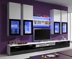 IKEA TV Wall Units | TV Wall Units - LILLE - TV Cabinets Modern Black +