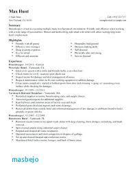 Housekeeping Resume Delectable Hotel Housekeeping Resume Example Hotel Job Resume Sample Resume