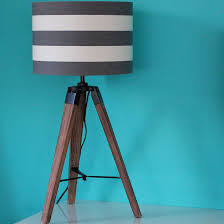 industrial wood tripod table lamp base