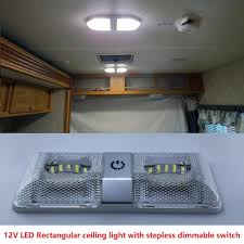 Interior Light Dimmer Switch 6w Dual Rectangular Ceiling Light With Touch Function Dimmer