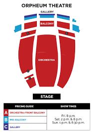 Orpheum Theater Phoenix Seating Chart Spongebob The Musical Broadway At The Orpheum Series