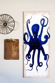 create this fun diy octopus wall art for your favorite nautical themed room this one