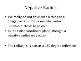 8 negative radius