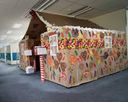 christmas office decorating ideas. gingerbreadcubicle light roof elf house officechristmasdecorations christmas office decorating ideas