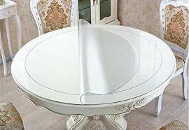Clear Plastic Table Cover Thick Round Table Protector Round Dining