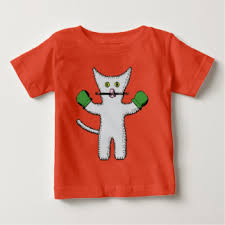 cute kitten with mittens baby fine jersey t shirt