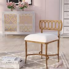 Vanity stools with back Velvet Scates Vanity Stool Wayfair With Back Vanity Stools Youll Love Wayfair