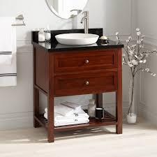 30 taren bamboo vanity for semi recessed sink light espresso