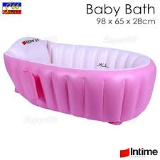 intime inflatable baby bath tub yt 226a pink 98x65x28cm