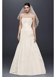 a line lace wedding dress with side split detail david s bridal