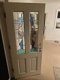 stained glass front doors home