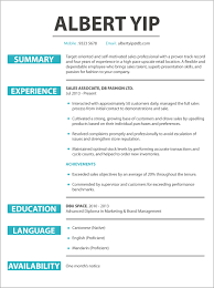 Retail Sales Resume CV sample Retail Sales jobsDB Hong Kong 17